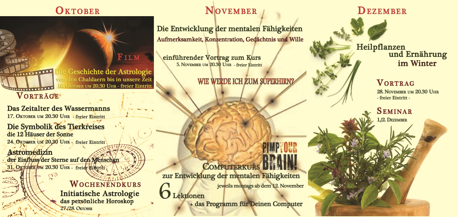 Themenreihe Oktober bis Dezember 2012
