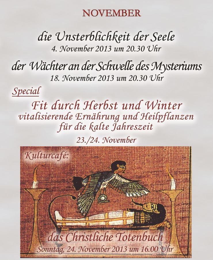 Vorträge im November 2013