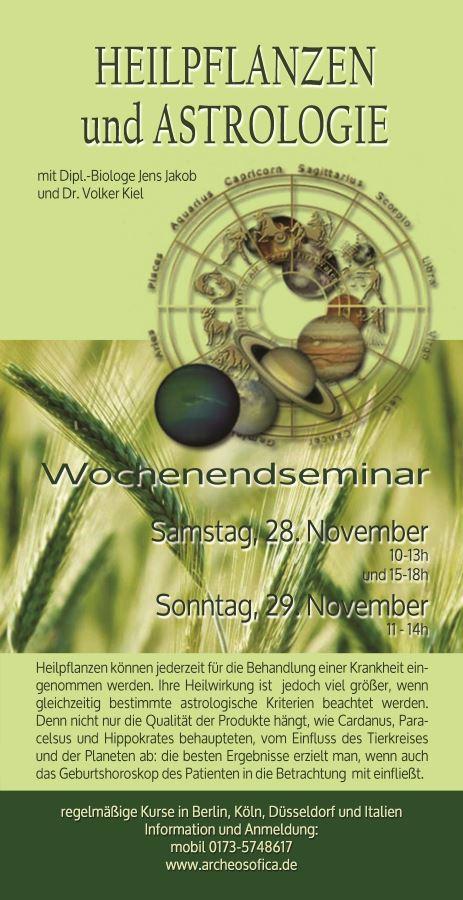 Heilpflanzen und Astrologie im November 2015
